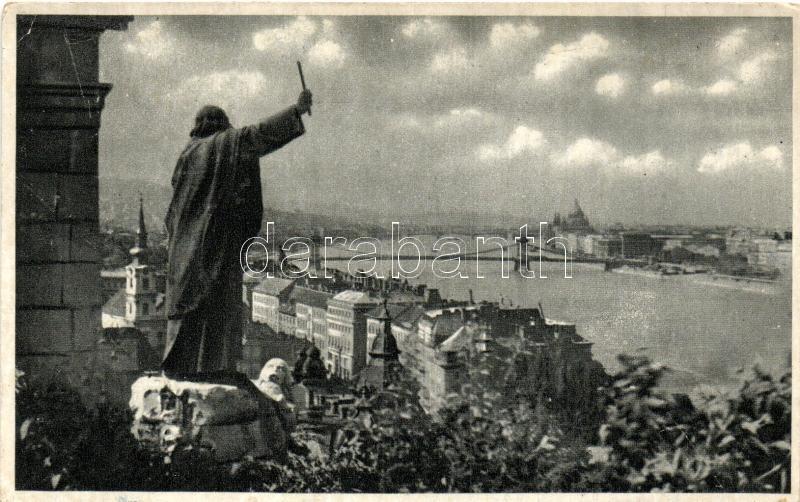 Budapest, Dunai látkép a Szent Gellért szoborral