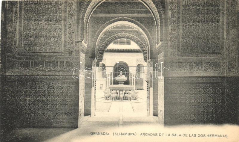Granada, Alhambra, Arcadas de la Sala de Las dos Hermans / church interior