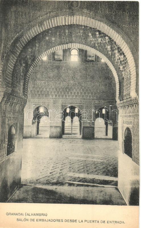 Granada, Alhambra, Salon de Embajadores desde la Puerta de Entrada / church interior