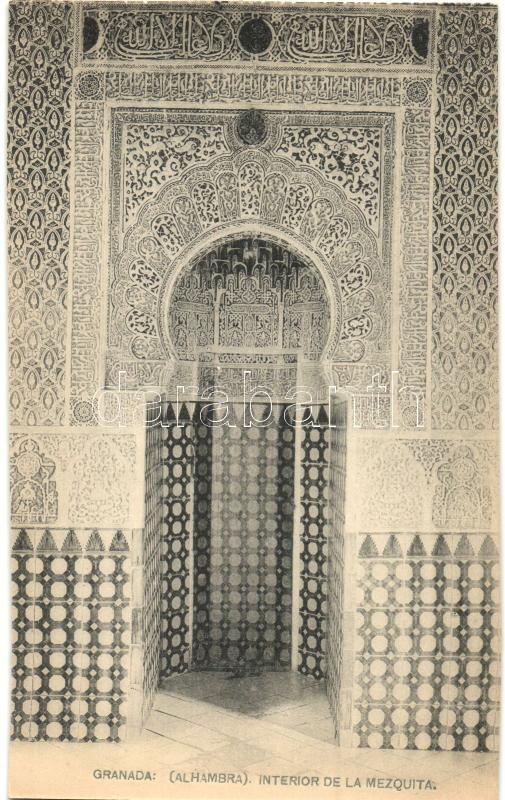 Granada, Alhambra, Interior de la Mezquita / church interior