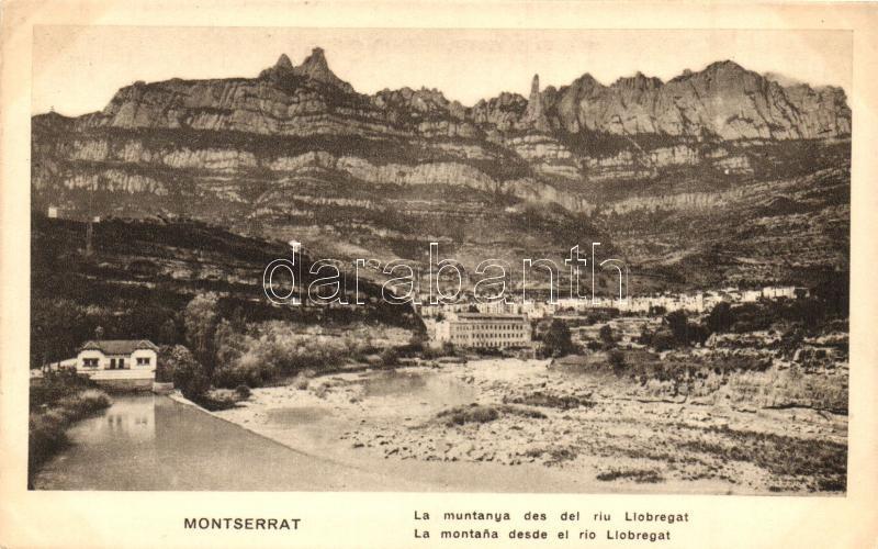 Montserrat, La montana desde el rio Llobregat