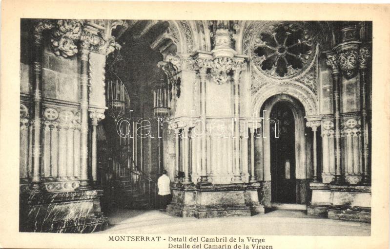 Montserrat, Detaill del Cambril de la Verge