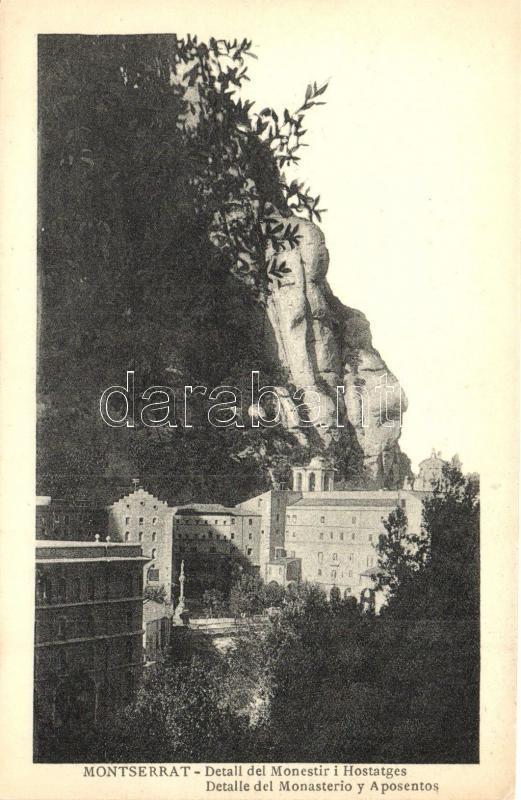 Montserrat, Detall del Monestir i Hostatges