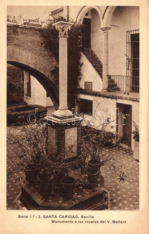 Sevilla, Santa Caridad, Monumento a los rosales del V. Manara
