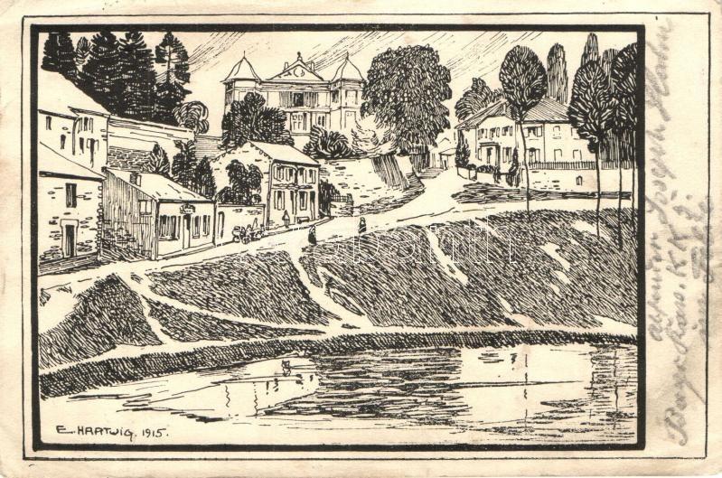 Feldpostkarte, Gazette des Ardennes; Bayerisch Kavallerie Kraftfahr Kolonne No 5. s: E. Hartwig