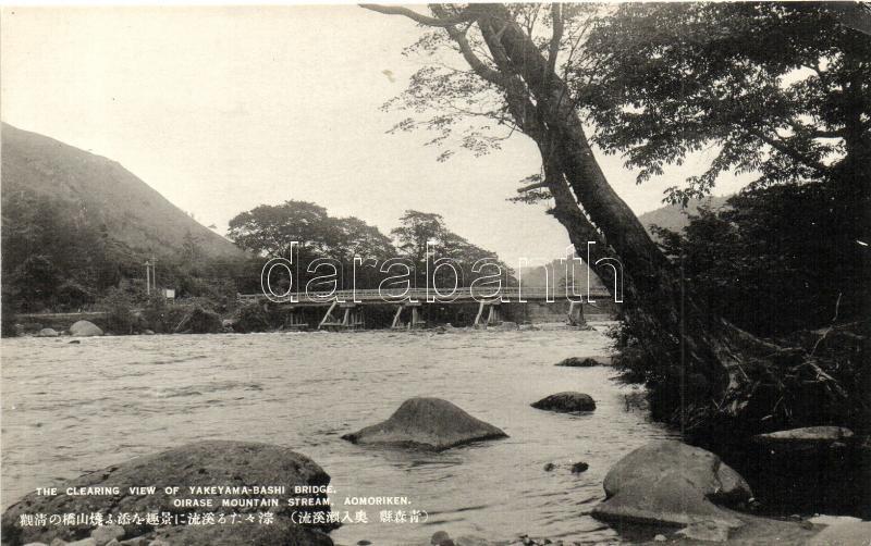 Aomoriken, Yakeyama Bashi Bridge, Oirase Mountain stream