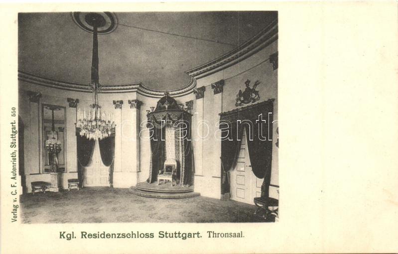Stuttgart, Kgl. Residenzschloss, Thronsaal / palace, interior