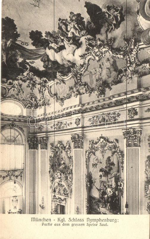 München, Kgl. Schloss Nymphenburg, Grossen Speise Saal / palace interior