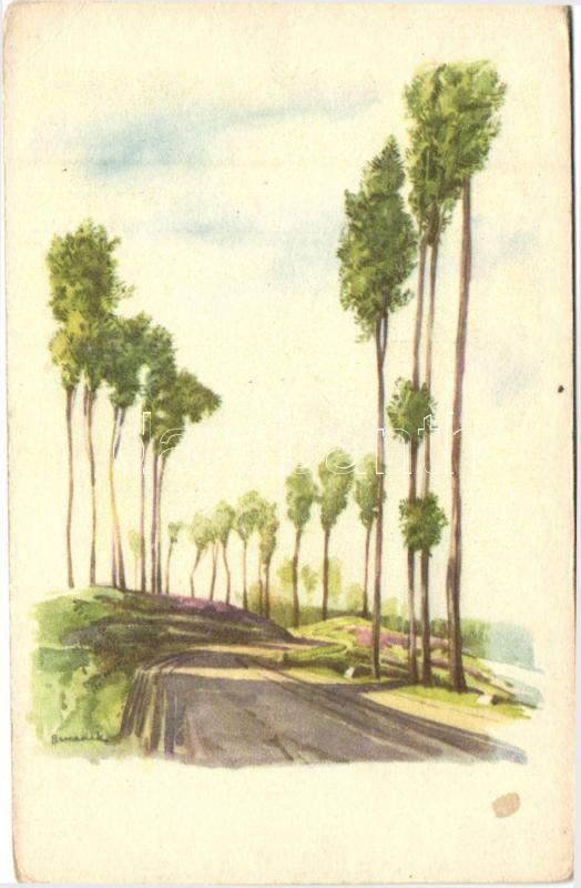 Táj, akvarell s: Benedek Katalin