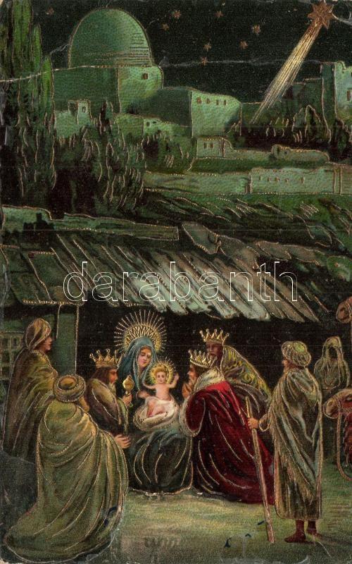The Birth of Jesus Christ,Serie 899. No. 3. litho, Jézus születése, Serie 899. No. 3. litho