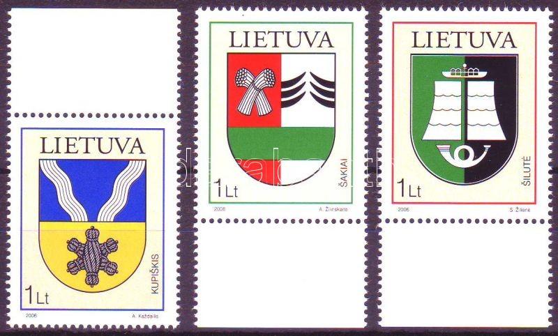 Coat-of-arms margin set, Címerek ívszéli sor, Wappen Satz mit Rand