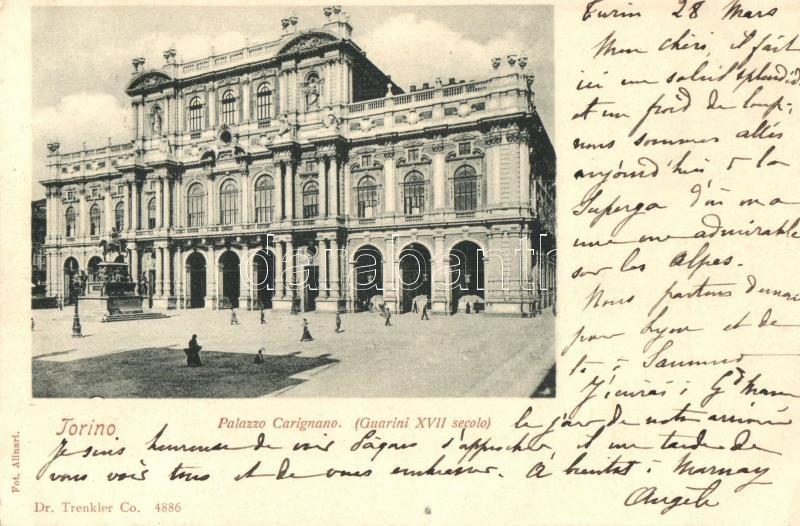 Torino, Turin; Palazzo Carignano / palace
