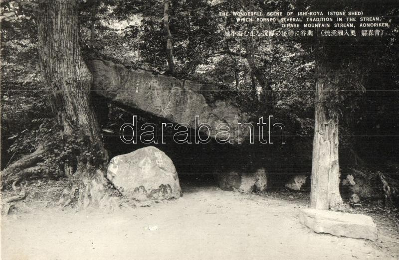 Aomori-ken, Oirase Mountain stream, Ishi Koya stone shed