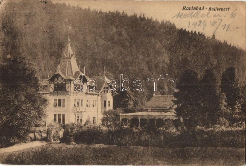 Karlovy Vary, Karlsbad; Kaiserpark / park, spa