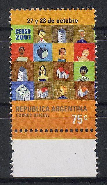 Census margin stamp, Népszámlálás ívszéli bélyeg, Volkszählung