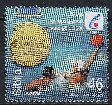 Serbia wins in the European cup of the water polo, Szerbia a vízilabda EB győztese, Gewinn der Wasserball-Europameisterschaft in Belgrad durch die serbische Nationalmannschaft