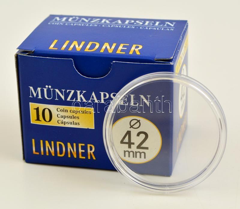 Lindner coin capsules 42mm - Pack of 10, Lindner érmekapszula 42mm - 10 darabos 2250042P, Lindner Münzenkapseln 42mm - 10-er Pack