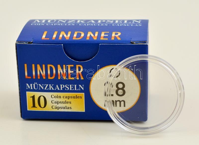 Lindner coin capsules 28mm - Pack of 10, Lindner érmekapszula 28mm - 10 darabos 2250028P, Lindner Münzenkapseln 28mm - 10-er Pack