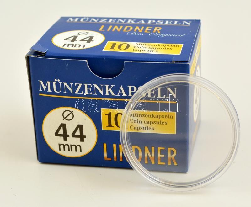 Lindner coin capsules 44mm - Pack of 10, Lindner érmekapszula 44mm - 10 darabos 2250044P, Lindner Münzenkapseln 44mm - 10-er Pack