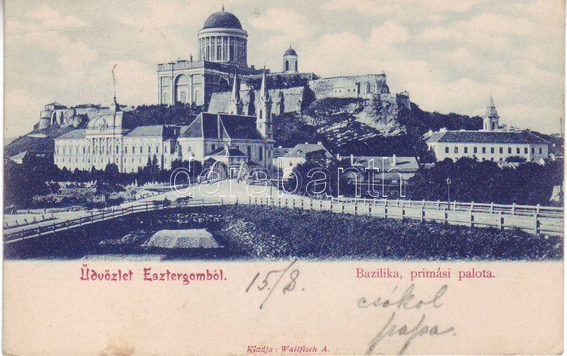 1899 Esztergom, Bazilika, Prímási palota