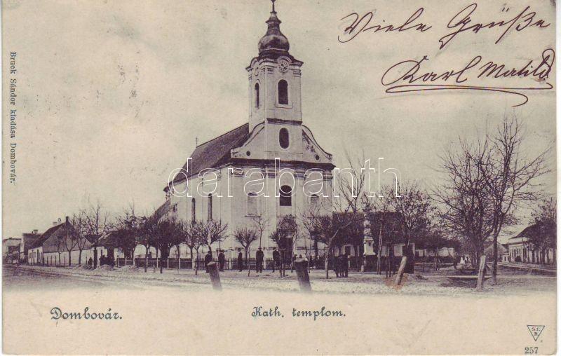 Dombovár, Katolikus templom, Bruck Sándor kiadása