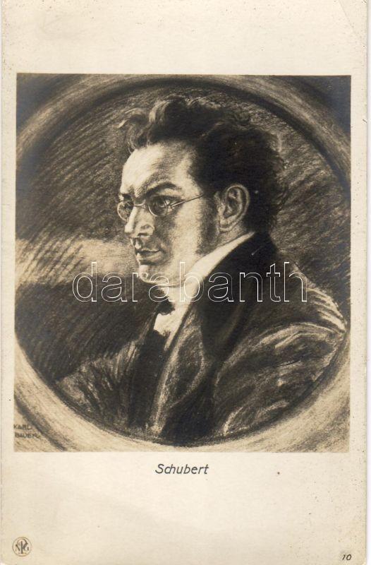 Franz Schubert, s: Karl Bauer, Franz Schubert, s: Karl Bauer