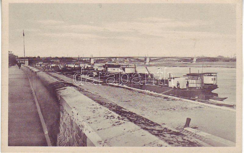 Szeged, Tiszapart, híd, hajók