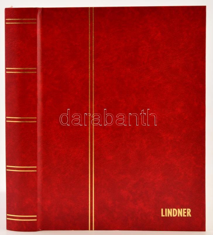 LINDNER Stockbook 1162 24 white sheets red 225x310mm, LINDNER Berakó 1162 24 fehér lappal piros 225x310mm, LINDNER Einsteckbuch 1162 24 weiss blatter rot 225x310mm