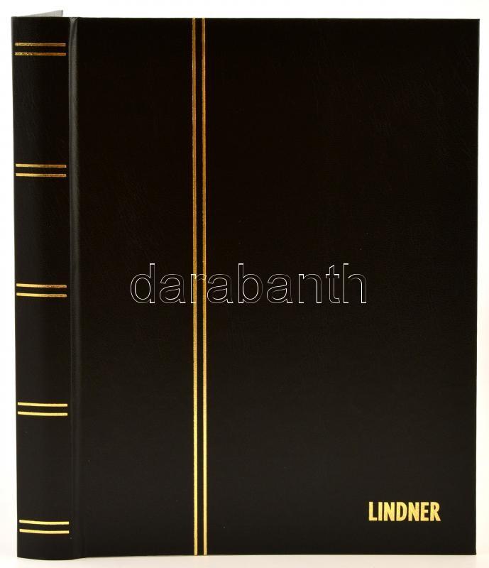 Lindner Einsteckbuch 1161 16 weiss blatter schwarz 230x305mm, Lindner Berakó 1161 16 fehér lappal fekete 230x305mm, Lindner Stockbook 1161 16 white sheets black 230x305mm