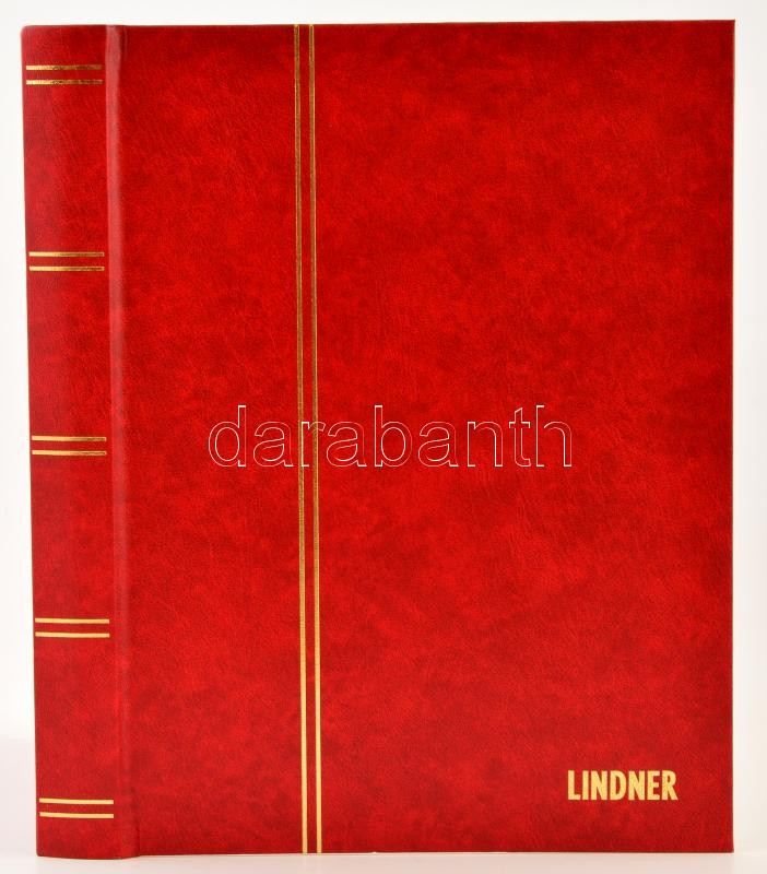 Lindner Stockbook 1161 16 white sheets red 230x305mm, Lindner Berakó 1161 16 fehér lappal piros 230x305mm, Lindner Einsteckbuch 1161 16 weiss blatter rot 230x305mm