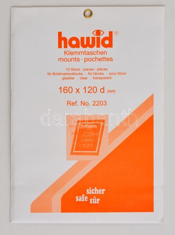 hawid Block sizes 160 x 120 mm, crystal clear - pack of 10, Hawid 2203 víztiszta filatasak 160x120d, hawid Klemmtaschen Blockstreifen 160 x 120 mm, glasklar, 10 Stück