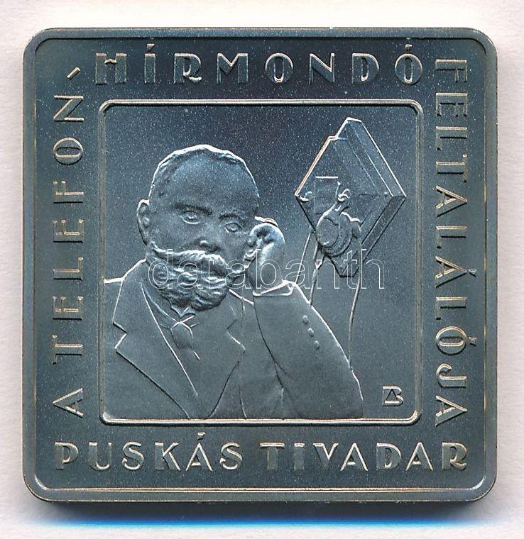 """2008. 1000Ft """"Telefonhírmondó - Puskás Tivadar"""" kis patina"""