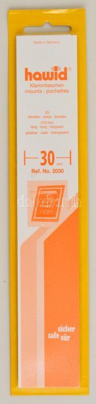hawid Strips 210 x 26 mm, crystal clear - pack of 25, Hawid 2026 Filacsík, 25db, 210x26mm, víztiszta, hawid Streifen 210 x 26 mm, glasklar, 25 Stück
