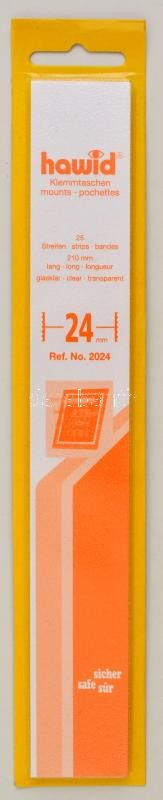 hawid Strips 210 x 24 mm, crystal clear - pack of 25, Hawid 2024 Filacsík, 25db, 210x24mm, víztiszta, hawid Streifen 210 x 24 mm, glasklar, 25 Stück
