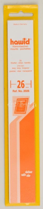 hawid Strips 210 x 30 mm, crystal clear - pack of 25, Hawid 2030 Filacsík, 25db, 210x30mm, víztiszta, hawid Streifen 210 x 30 mm, glasklar, 25 Stück