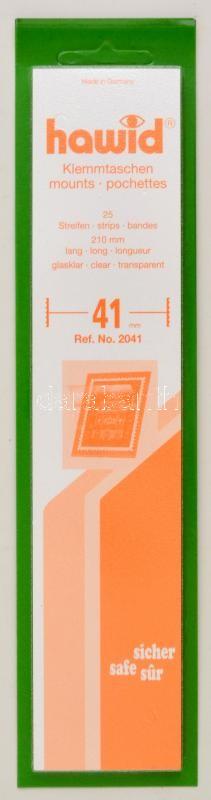 hawid Strips 210 x 41 mm, crystal clear - pack of 25, Hawid 2041 Filacsík, 25db, 210x41mm, víztiszta, hawid Streifen 210 x 41 mm, glasklar, 25 Stück