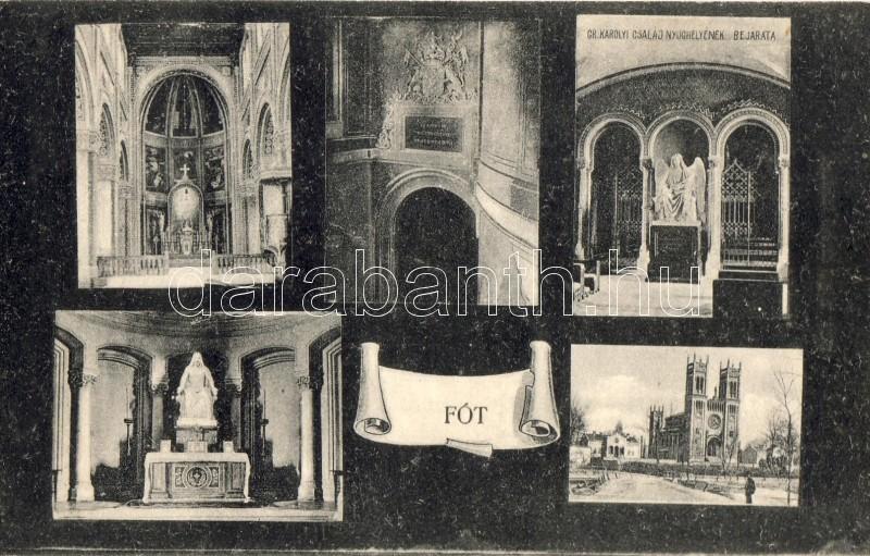 Fót, Római katolikus templom belső, Gróf Károlyi család nyughelyének bejárata, Engel Dezső kiadása