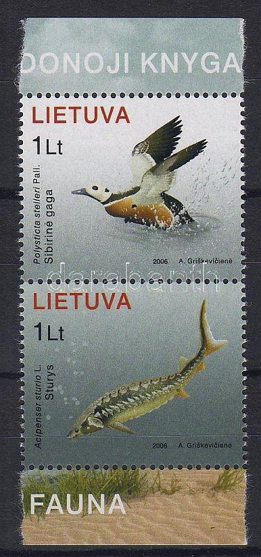 Fauna of Baltic Sea margin set, A Balti-tenger élővilága ívszéli pár, Ostseefauna Satz mit Rand