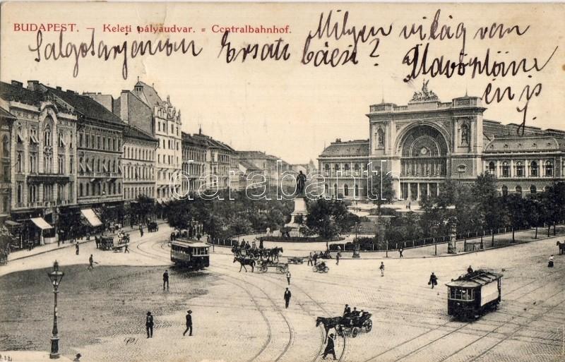 Budapest VII. Keleti pályaudvar, villamos