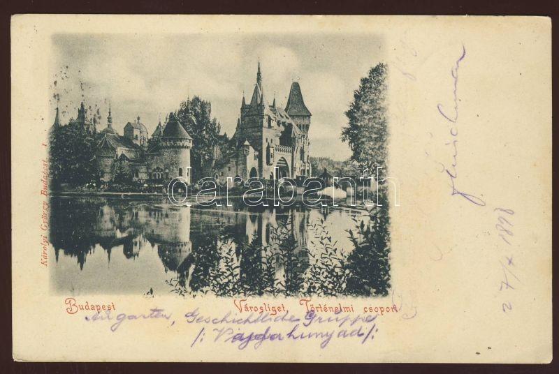 1898 Budapest XIV. Városliget, Történelmi csoport
