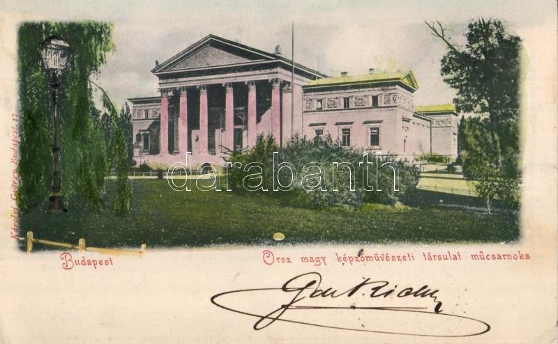1898 Budapest XIV. Városliget, Országos Magyar Képzőművészeti Társulat Műcsarnoka