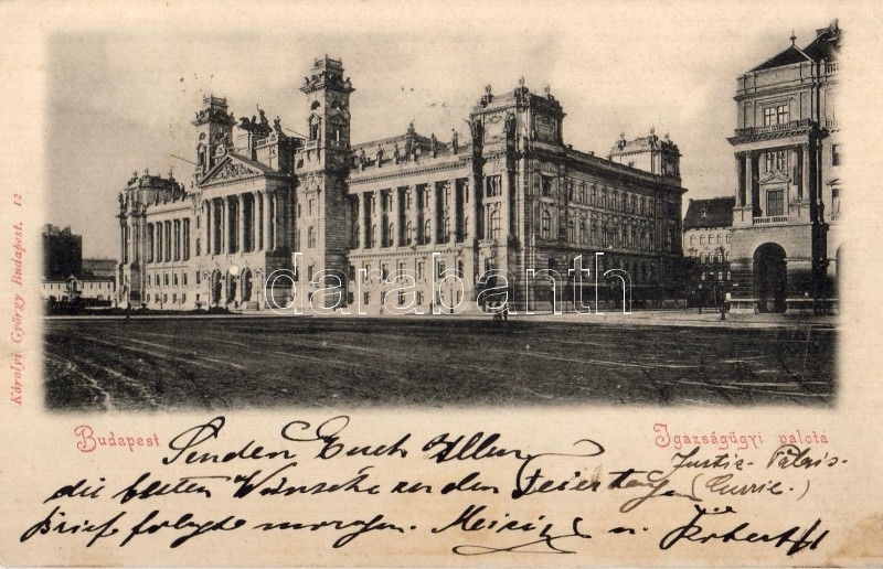 1898 Budapest V. Igazságügyi Palota