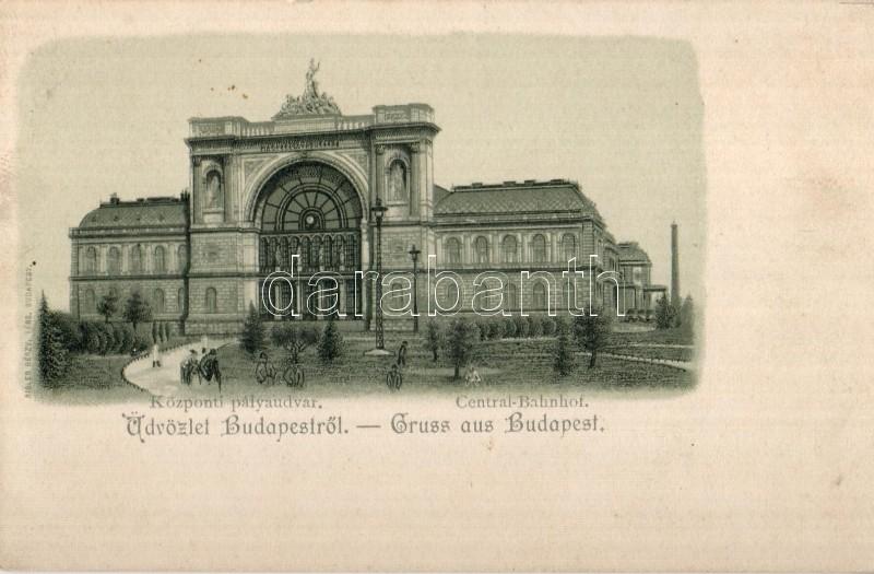 Budapest VII. Keleti pályaudvar, kiadja Rigler Rt.