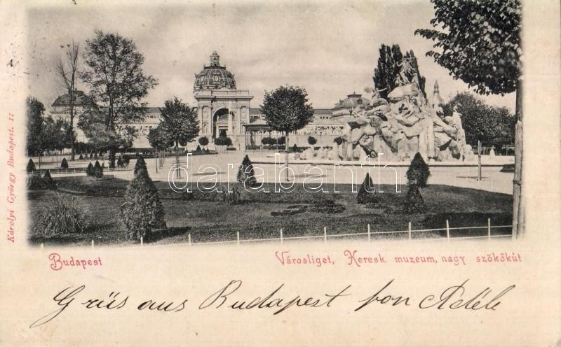 1899 Budapest XIV. Városliget, Kereskedelmi Múzeum, Nagy szökökút