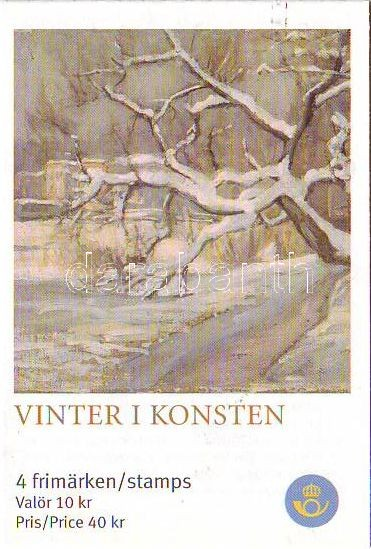 Christmas: paintings of winter stamp booklet, Karácsony: téli festmények bélyegfüzet, Weihnachten: Wintergemälde Markenheftchen