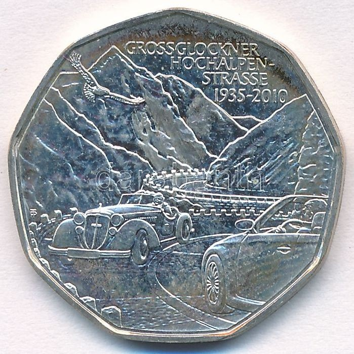 "5 Euro ""Grossglockner - High Alpine Road"" small patina, 5E ""Grossglockner - Magashegyi út"" kis patina"