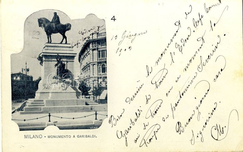 Milano, Milan; Garibaldi monument