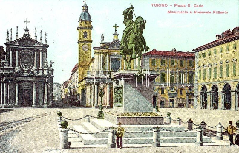 Torino, Piazza S. Carlo, Monumento a Emanuele Filiberto / square, monument