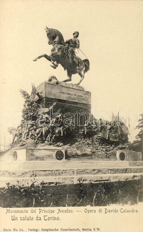 Torino, Monumento del Principe Amedeo, Opera di Davide Calandra / monument, opera, Serie No. 24