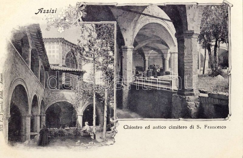 Assisi, cloister and cemetery of St. Francesco, floral
